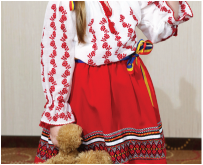 "Romanian blouse - Children traditional cloth ""Teodora"""
