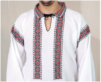 "Romanian blouse - Men shirt ""Gheorghe"""