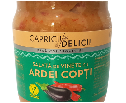 Eggplant caviar with roasted pepper - Capricii si delicii - 500g
