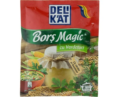 Delikat bors magic verdeturi 65gcondiment bucatarie cuisine roumaine