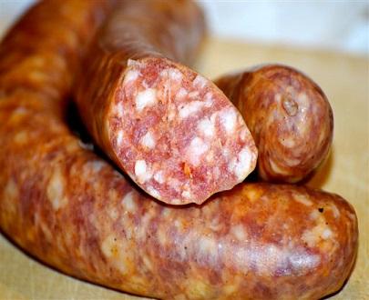 saucisse fumée de Transylvanie smoked saussage transylvania romania